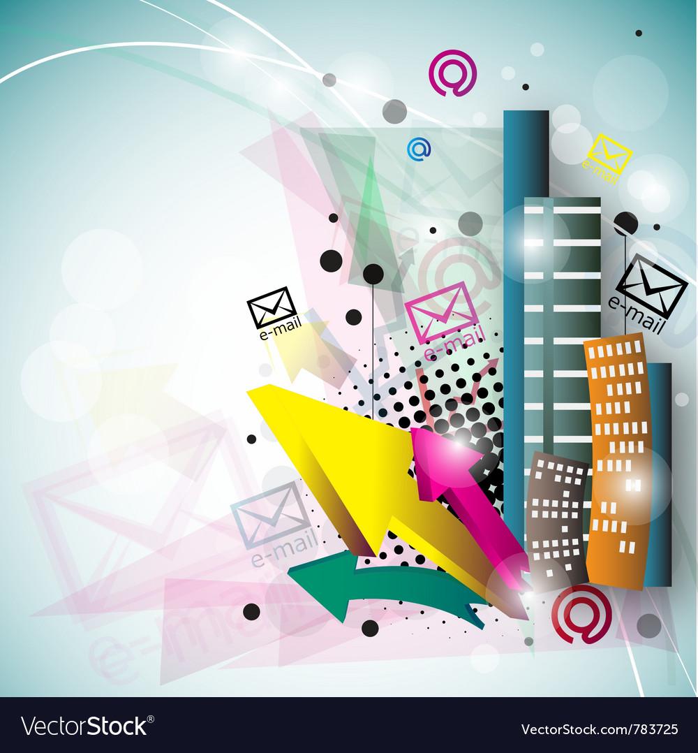 Stylish Email Background Vector Image