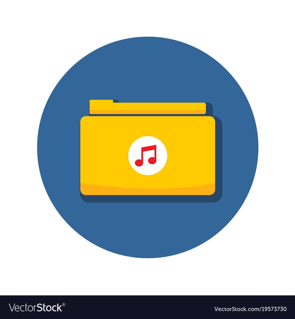 Audio music folder archive icon graphic vector image