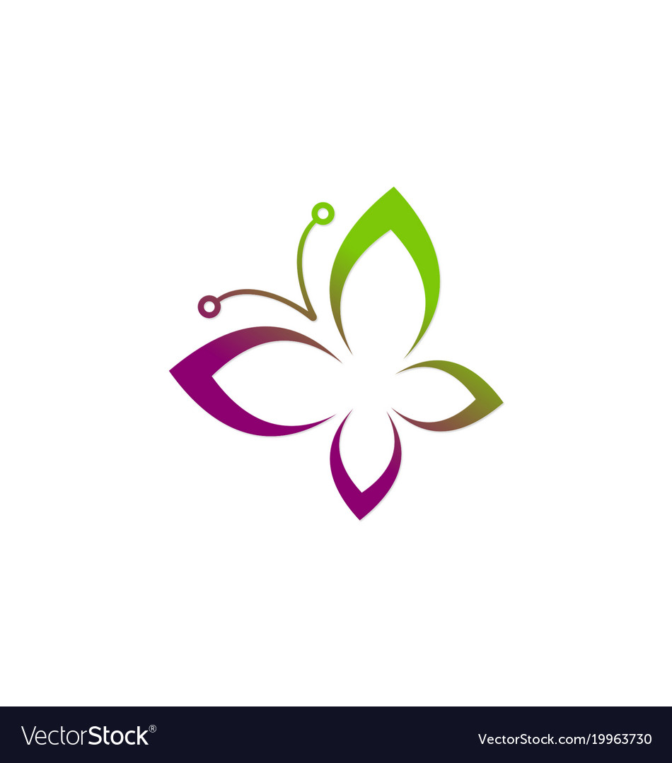 Butterfly abstract beauty logo