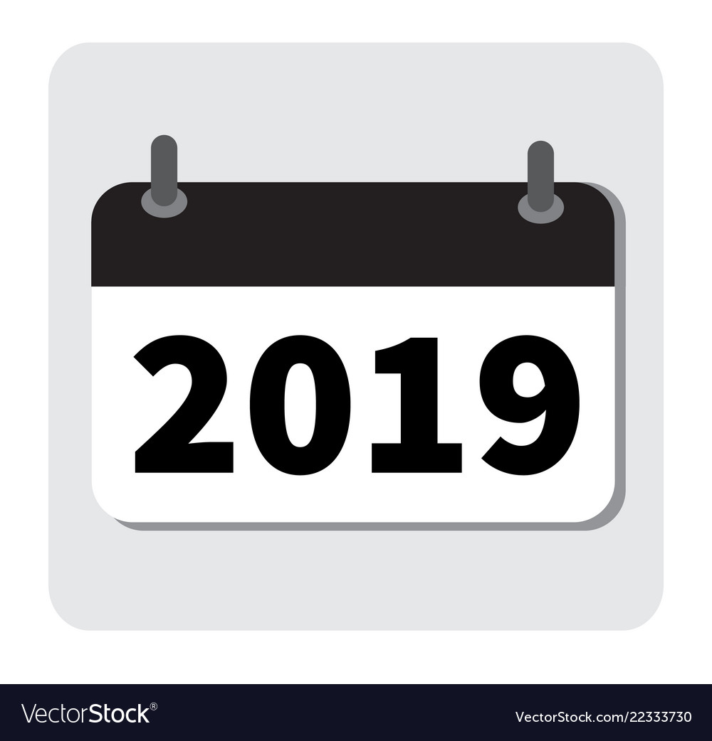 Calendar Icon 2019 New Year 2019 2019 Icon For Vector Image