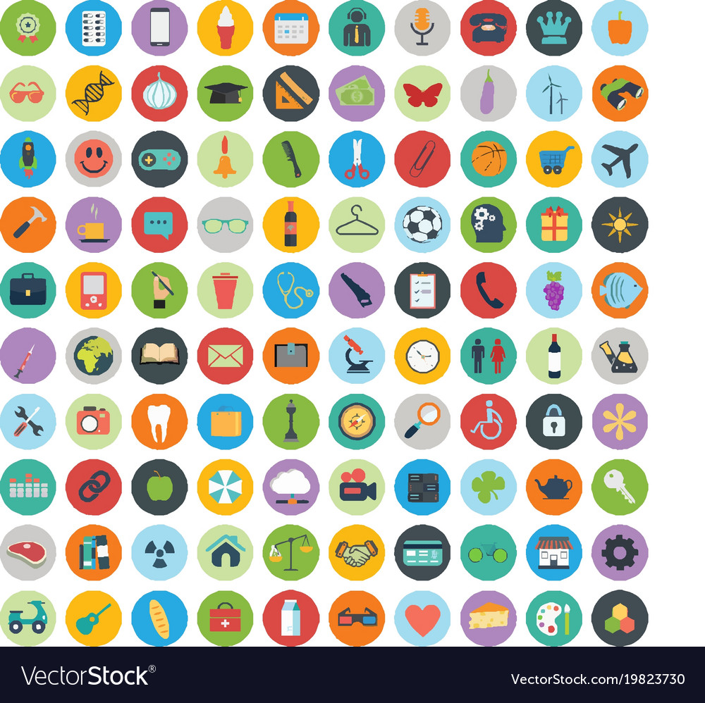 Icon set sign and symbols clip art icons