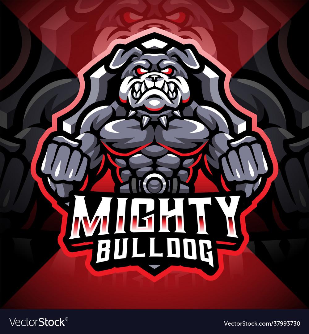 Mighty bulldog esport mascot logo design