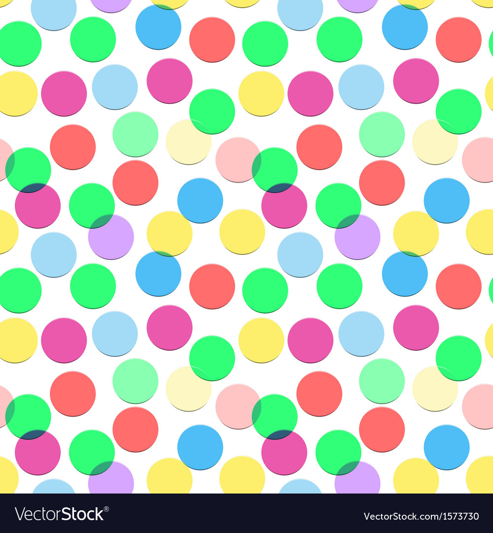 Seamless confetti pattern in candy colors