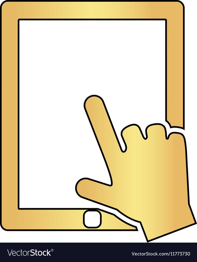 Touch screen computer symbol