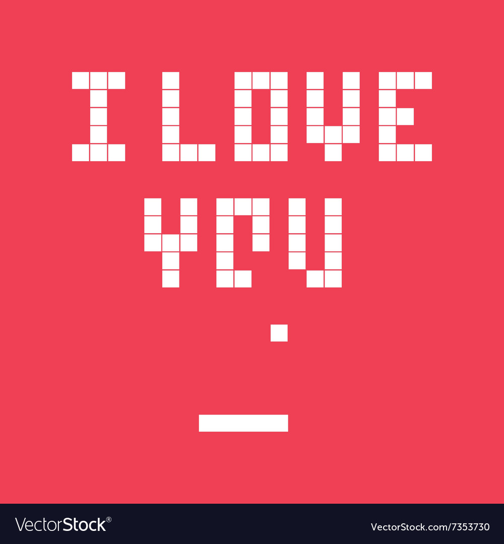 Valentines day card video game i love you vector image