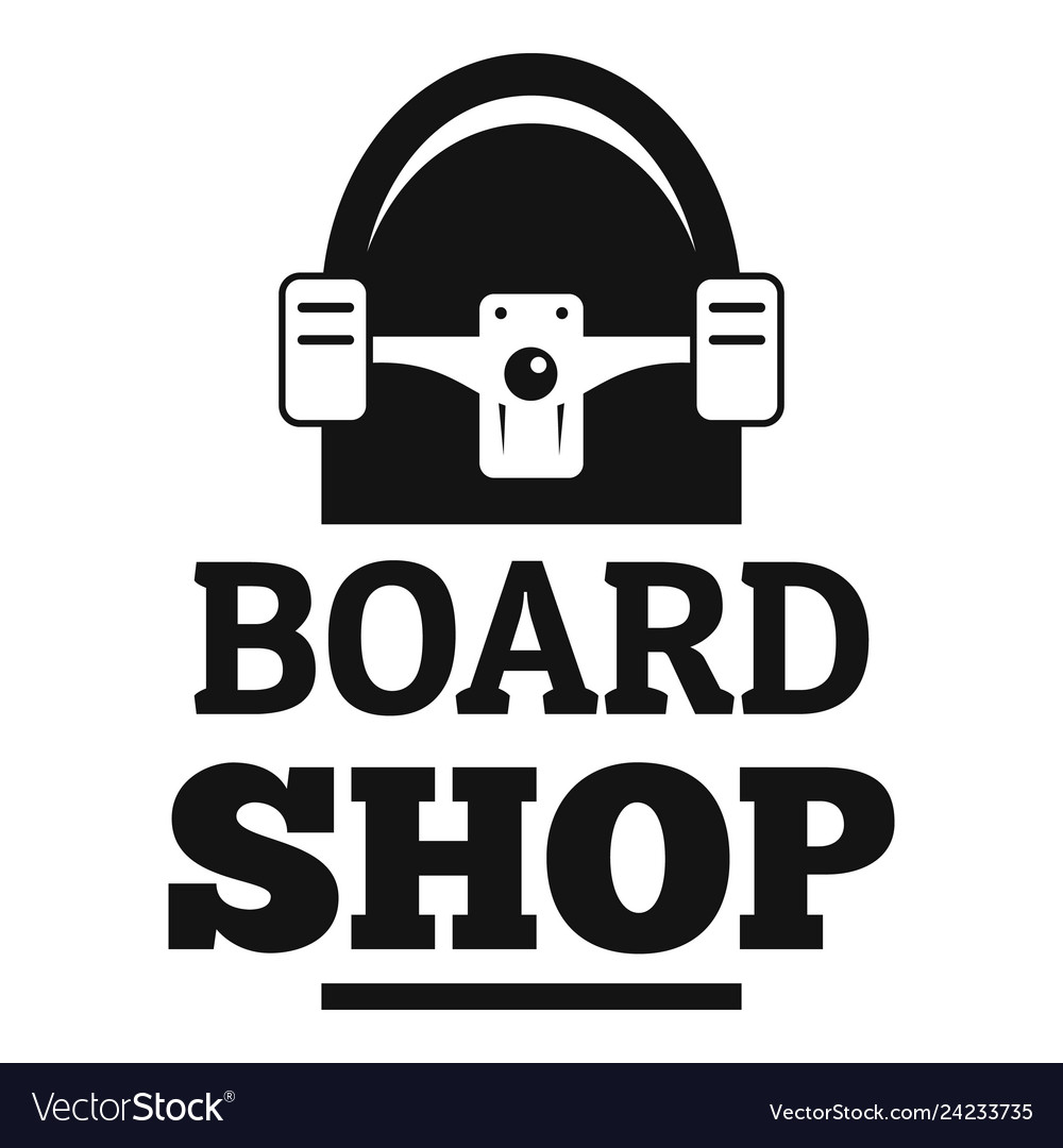 Board shop logo simple style