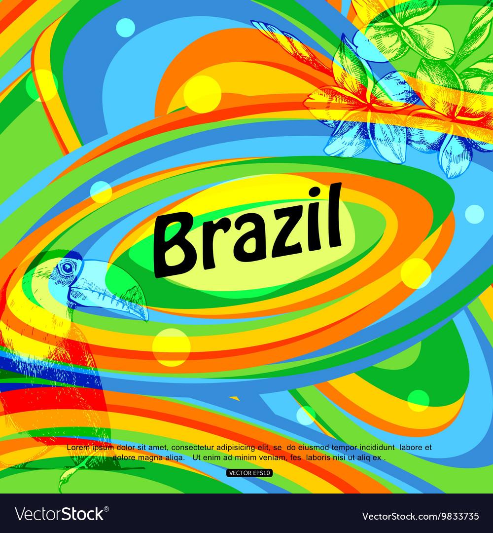 Brazil background for travel brochure banner