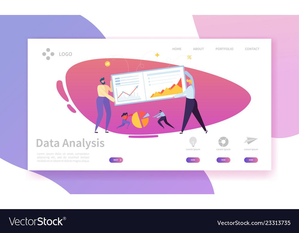 Digital marketing analysis report landing page