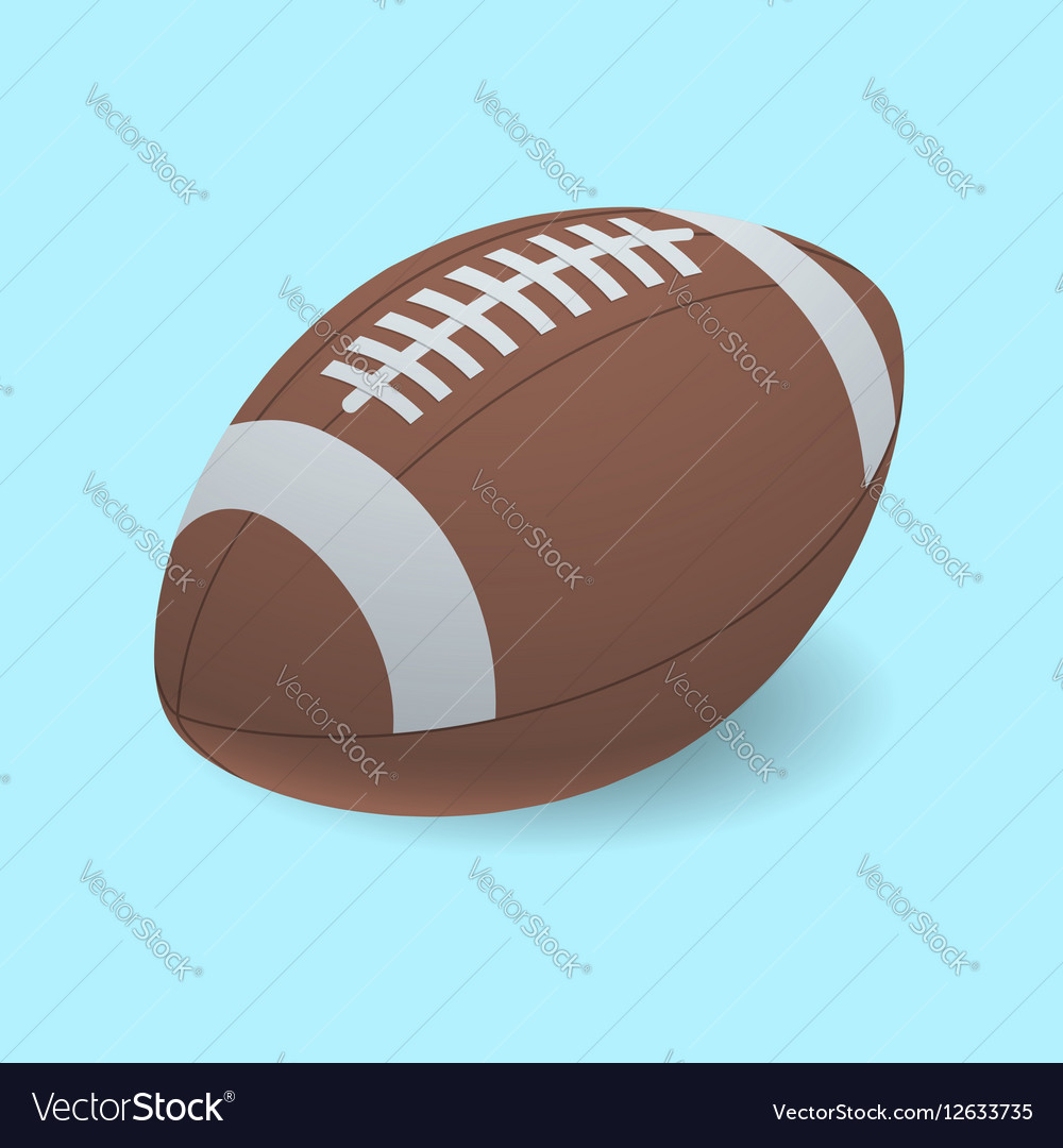 Football isolated on a background