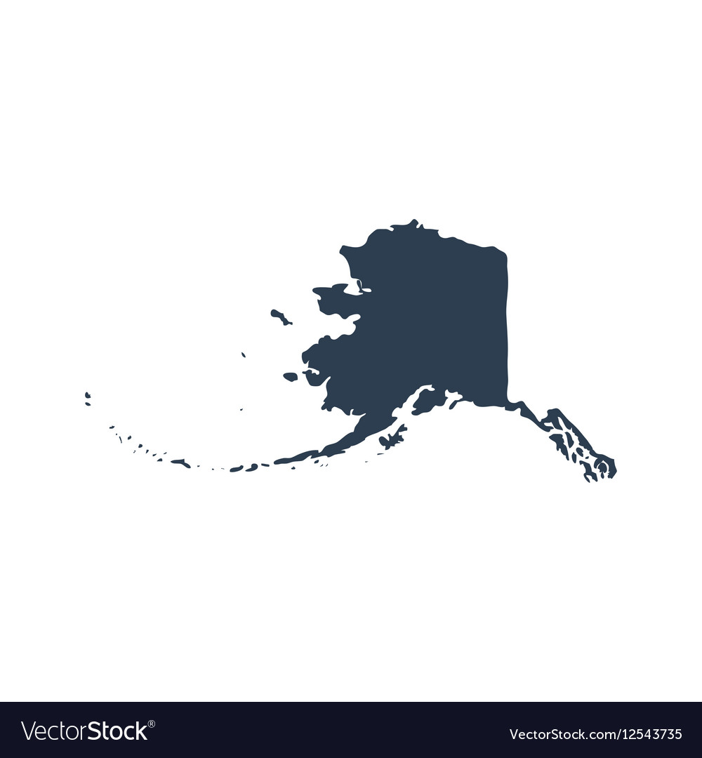 Map of the US state Alaska
