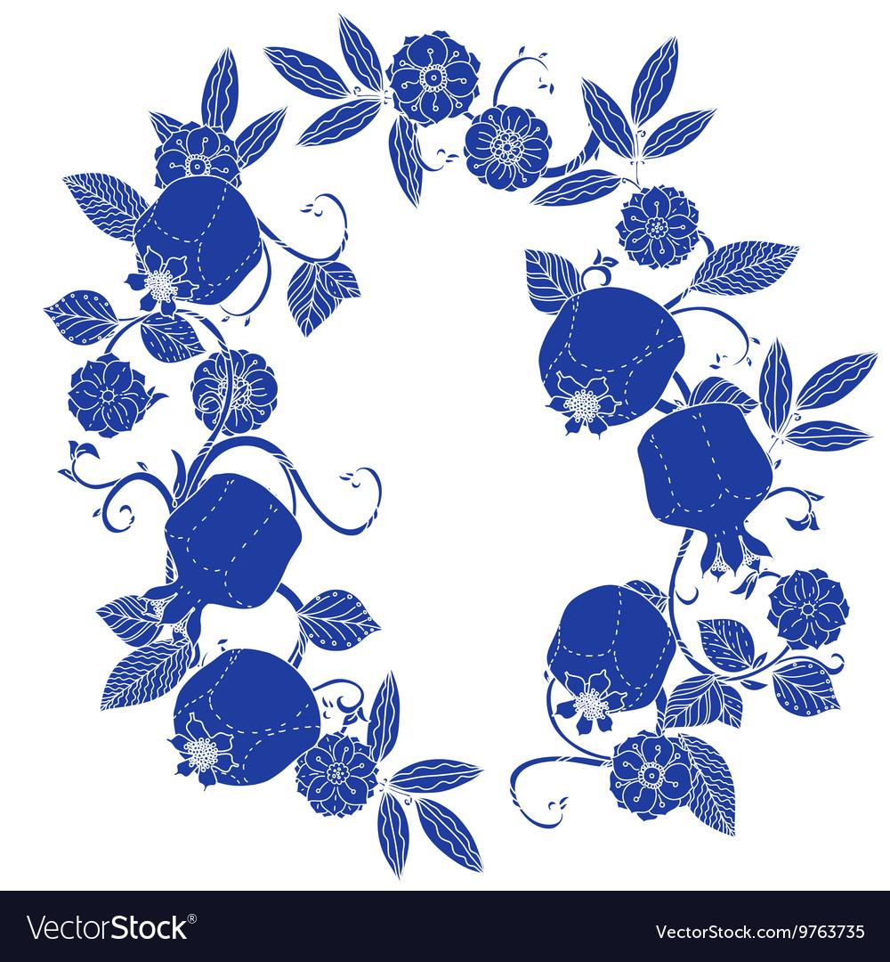 Oriental patterned jugs blue
