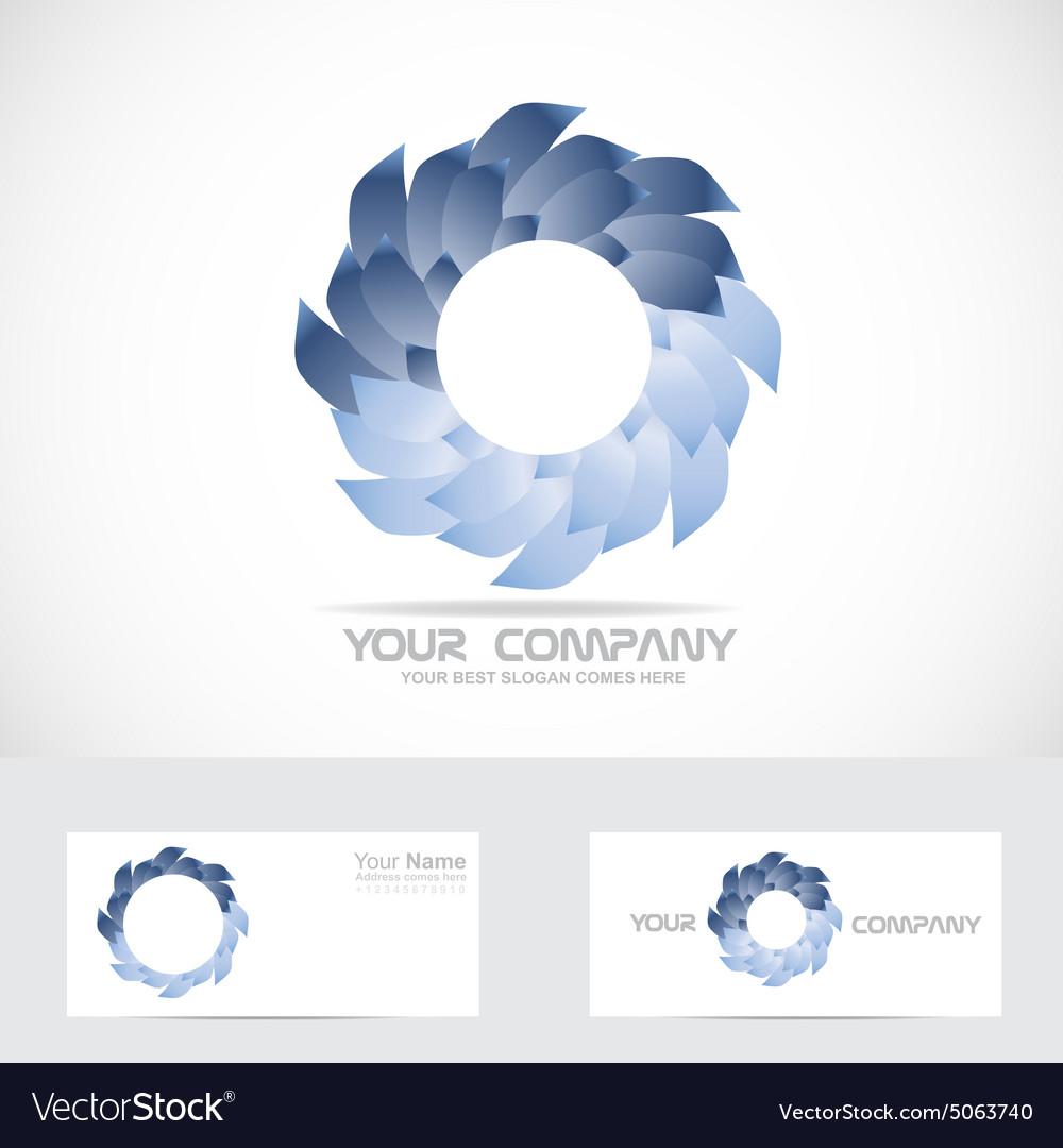 Abstract blue logo