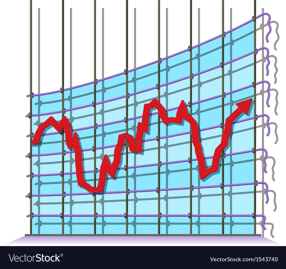 Misrepresented economy vector image