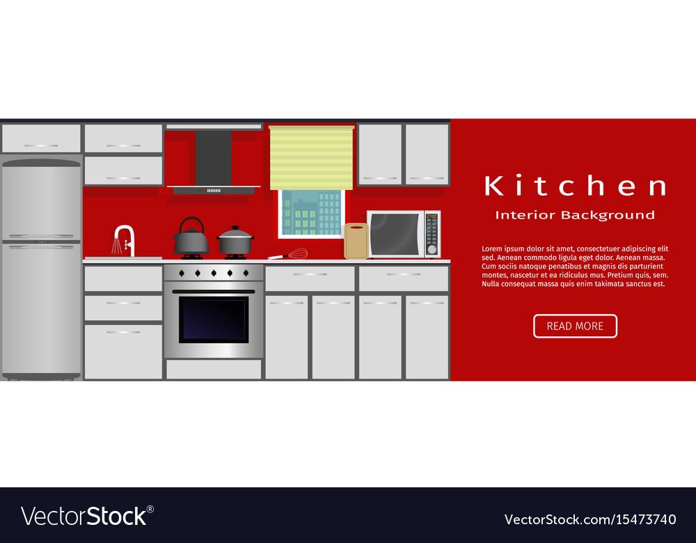 Modern kitchen interior banner for your web
