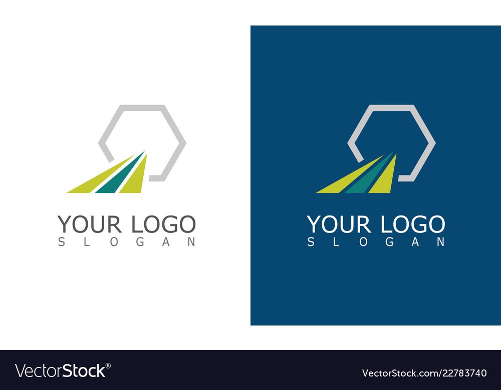 Stripe polygon company logo