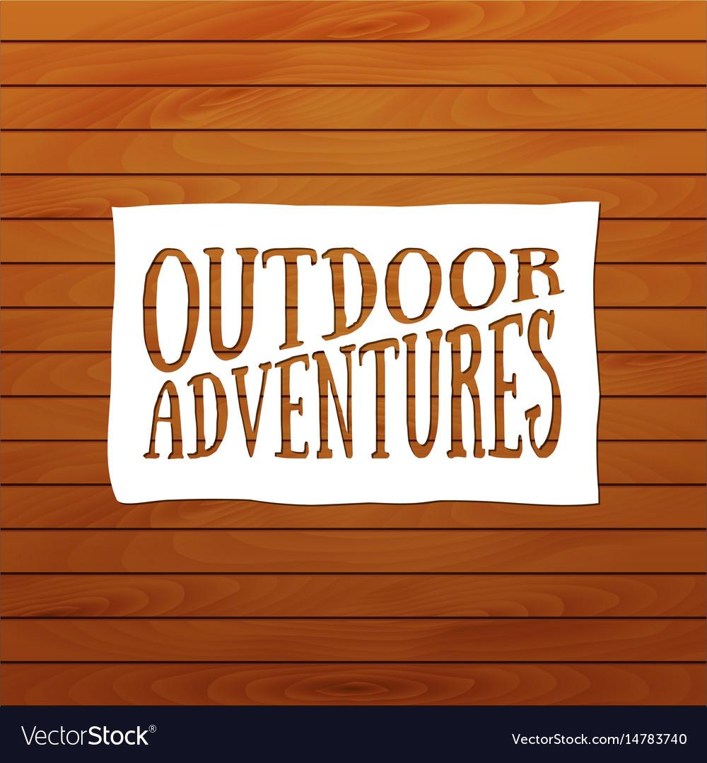 Summer camp badge outdoor logo