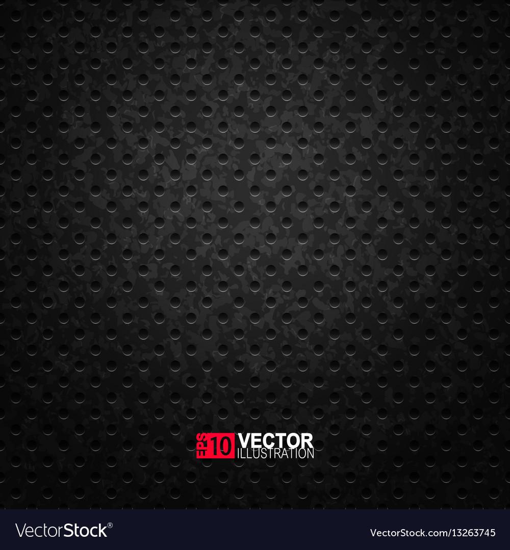 Black metal texture vector image