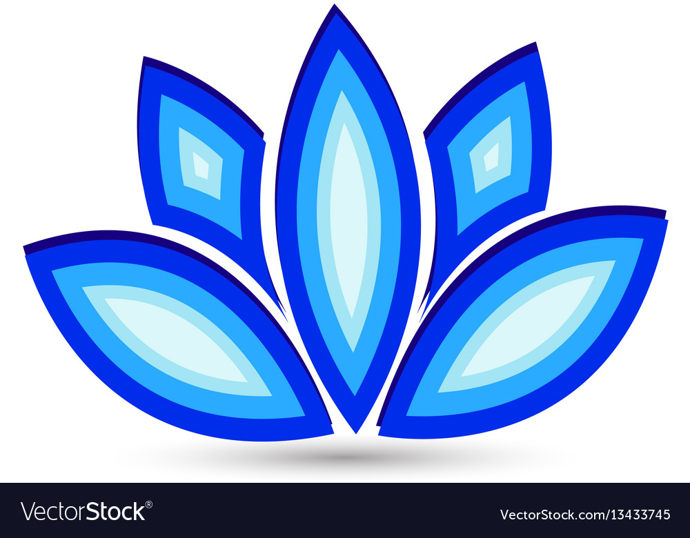 Blue lotus flower icon logo royalty free vector image blue lotus flower icon logo vector image mightylinksfo