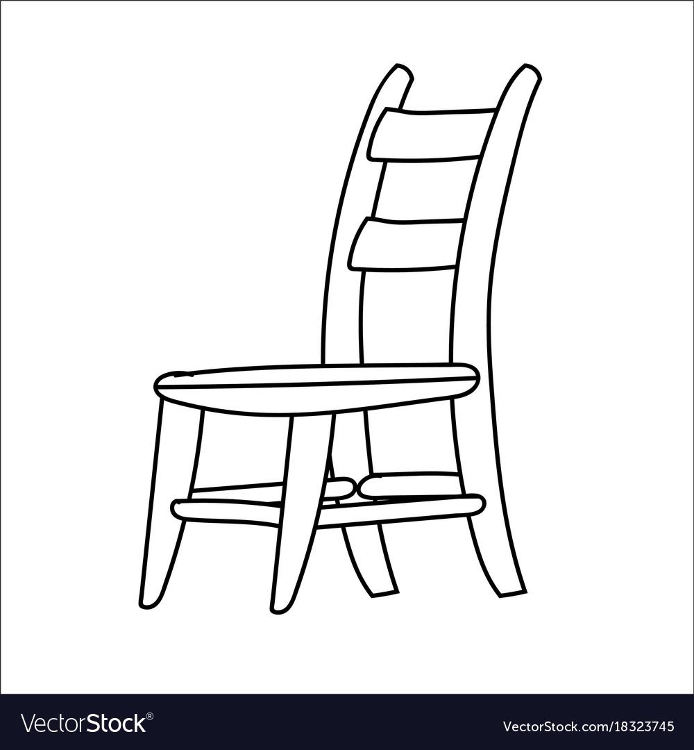 Chair Cartoon Line Drawn