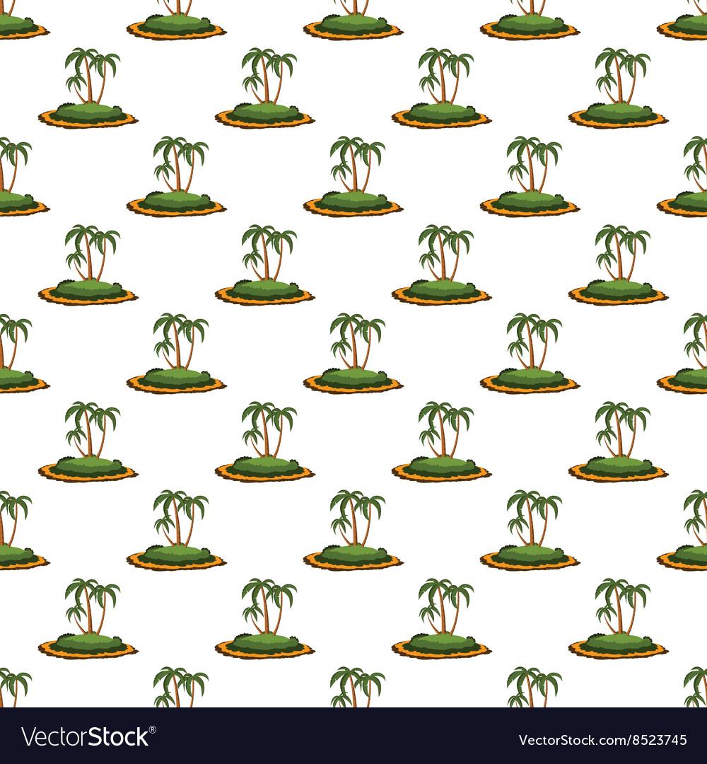 Desert island pattern seamless