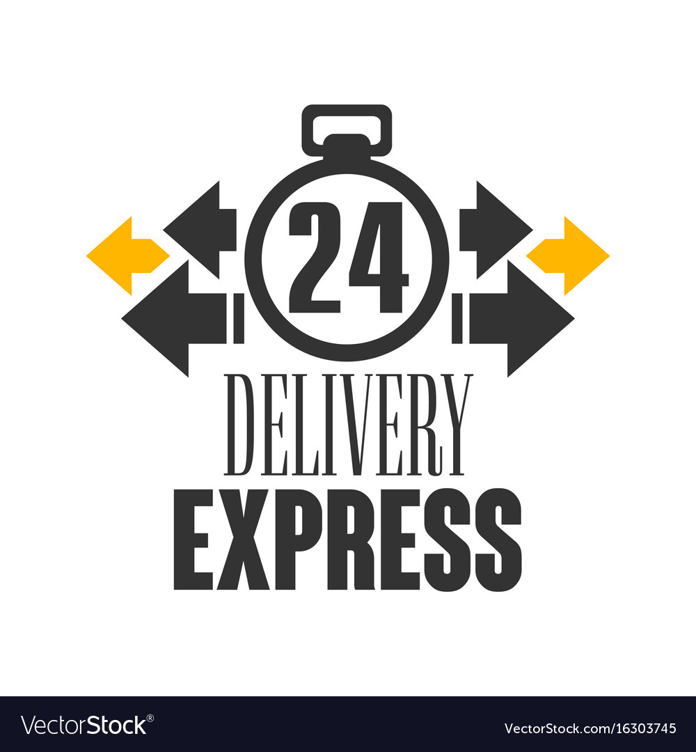 Express delivery 24 hours logo design template