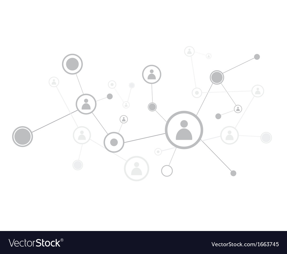 Human connection vector image