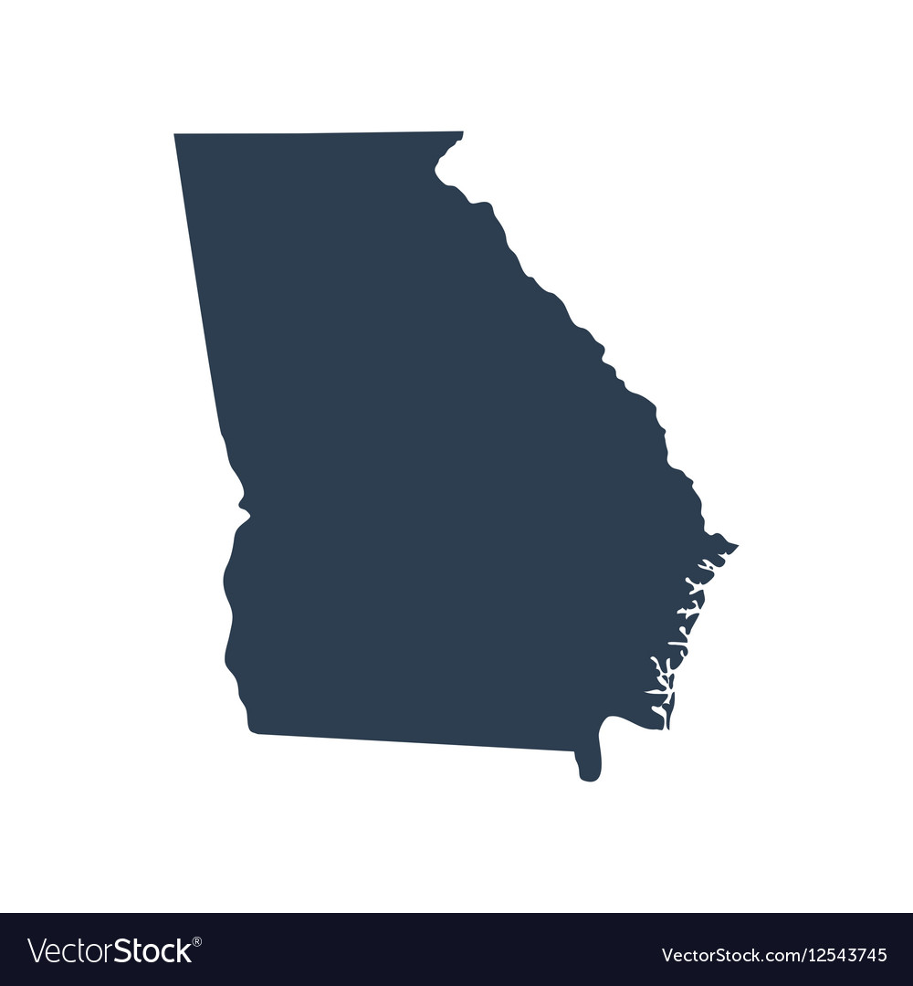 Map Of The Us State Georgia Royalty Free Vector Image - Us-map-georgia-state