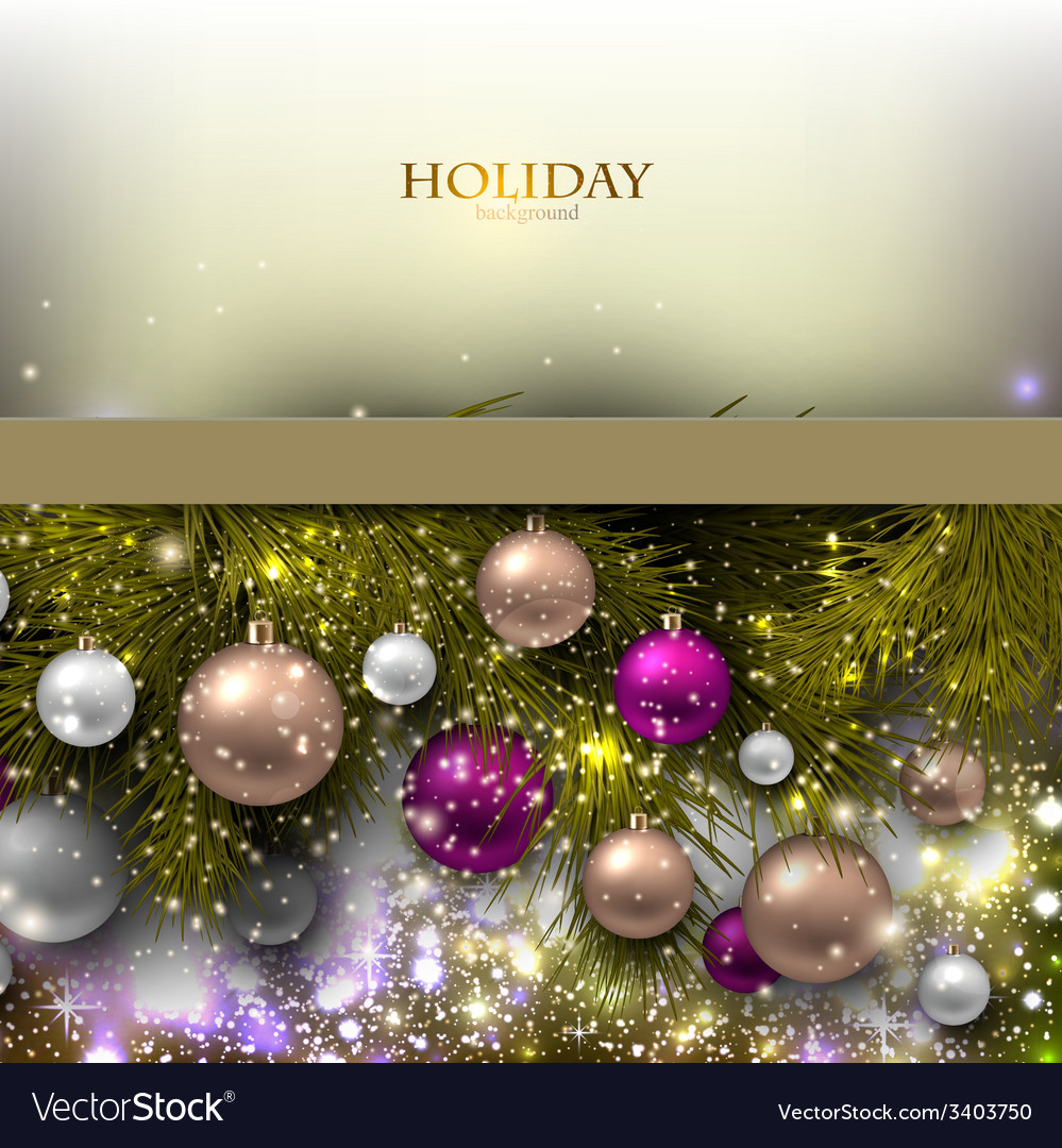 Christmas background with balls Colorful Xmas