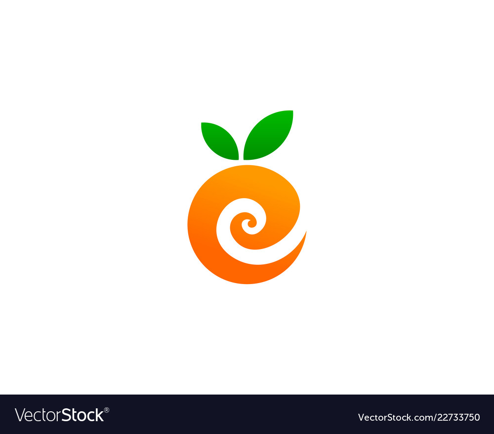 Fruit letter e logo icon design Royalty Free Vector Image