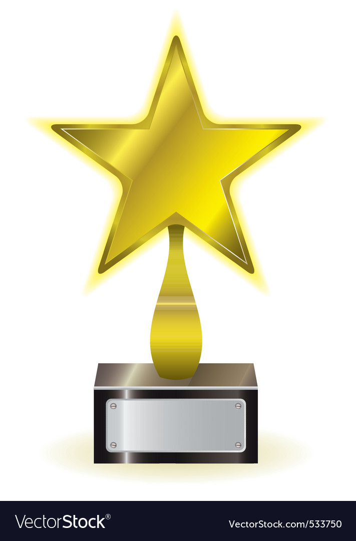 Golden star award vector image