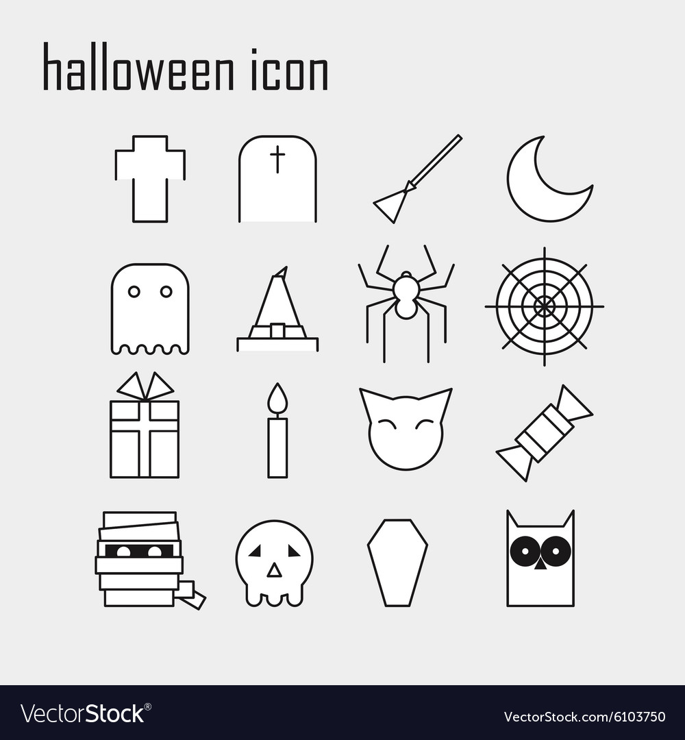 Line icons Halloween icon Modern infographic logo