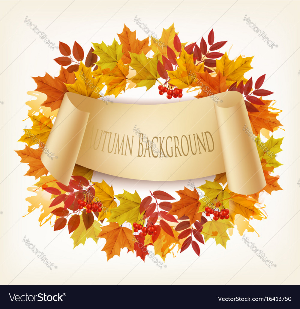 Nature autumn background with colorful leaves