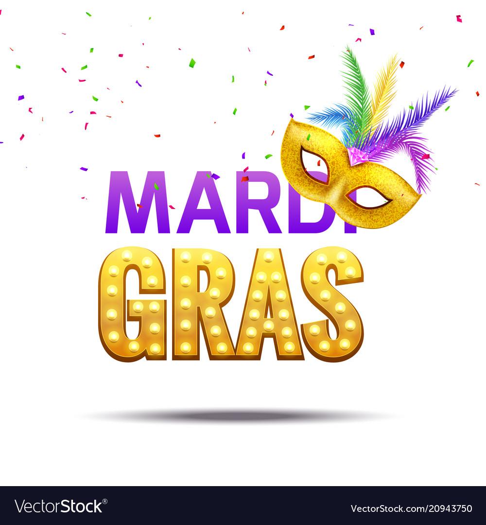 Purple festive mardi gras background greeting card