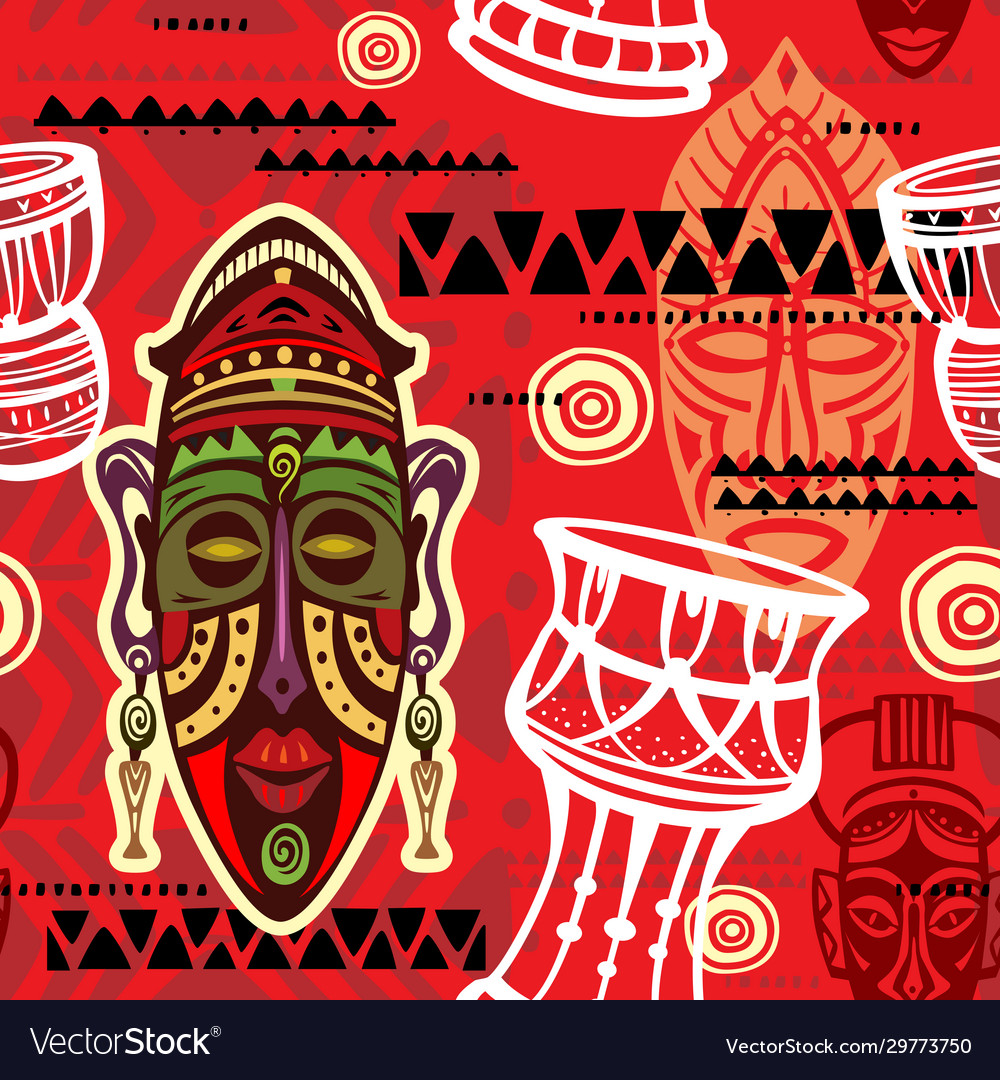 Seamless pattern with ethnic background
