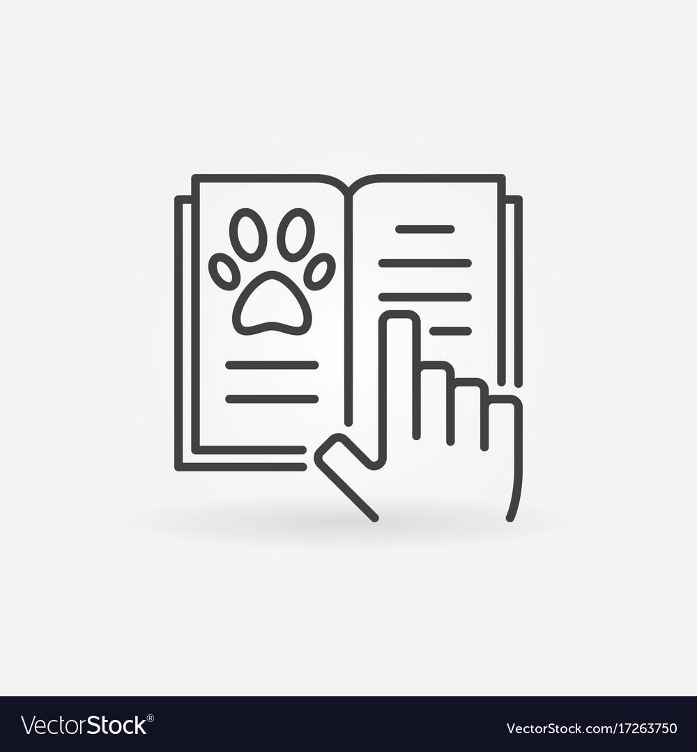 Veterinary medicine book icon