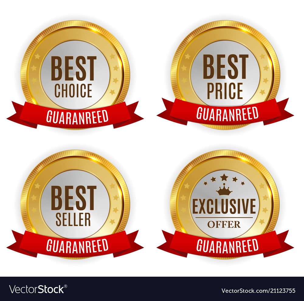 Best price seller choice and exclusive offer vector image