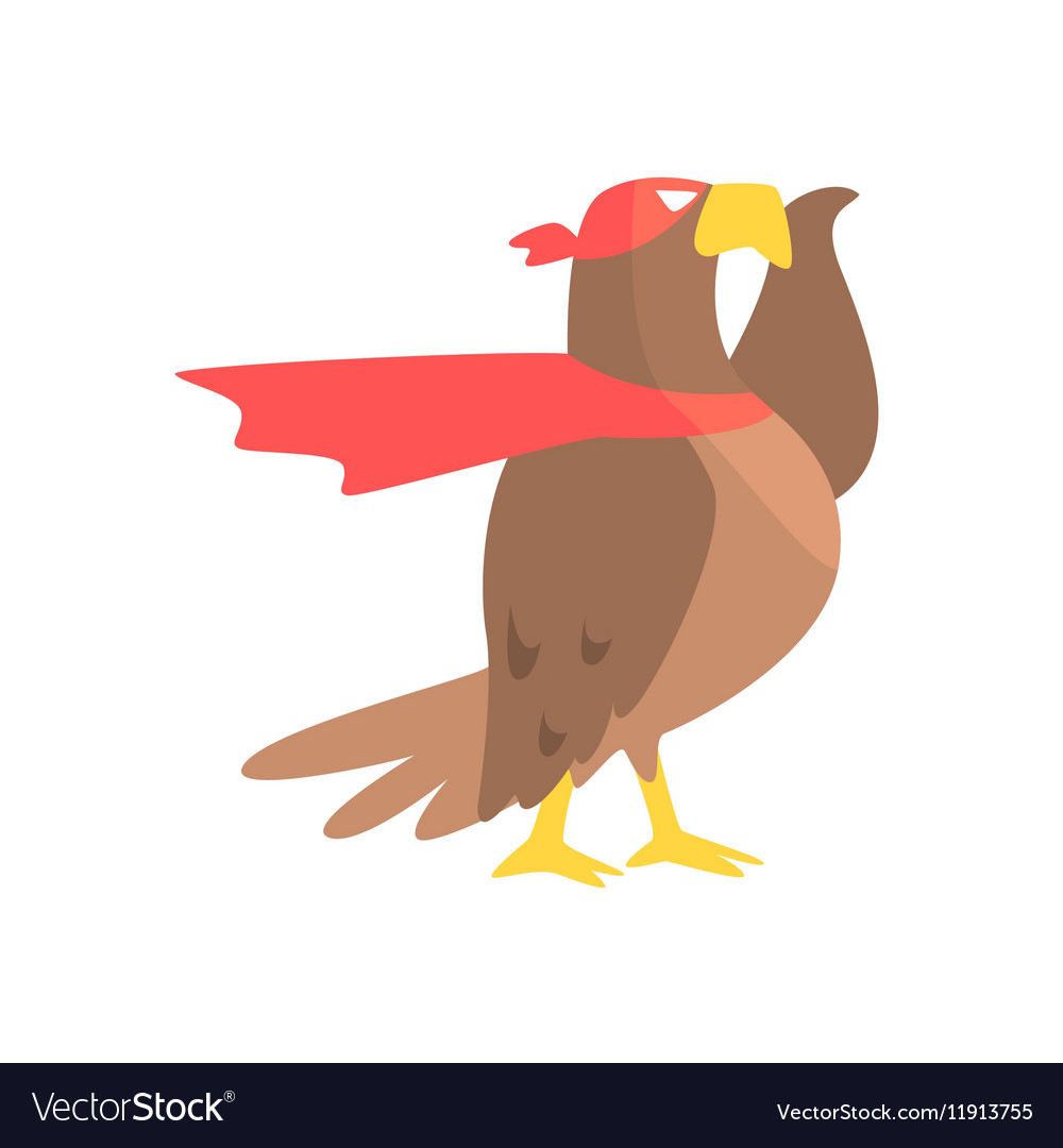 Eagle Animal Dressed As Superhero With A Cape