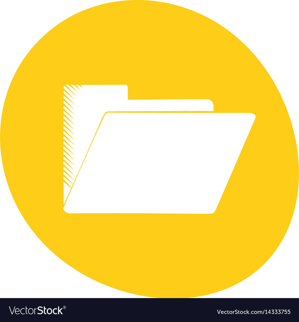 Folder file document archive icon color vector image