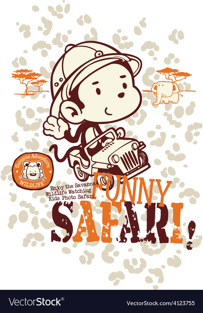Funny safari monkey vector image