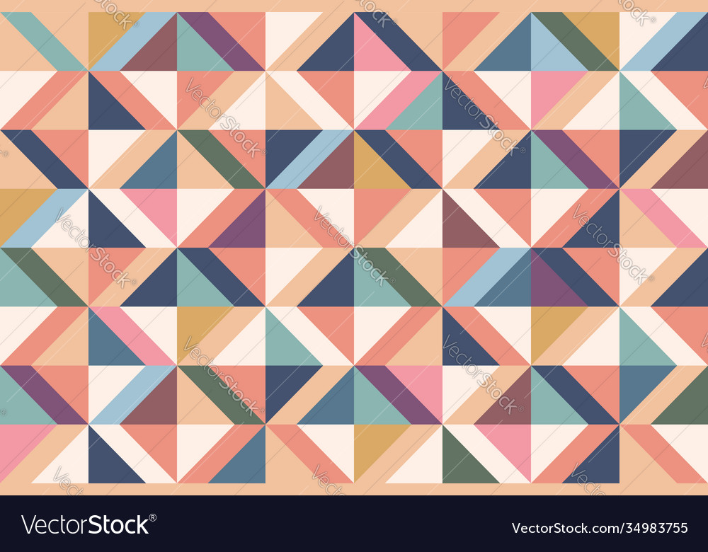 Geometric abstract pattern with colorful rhombuses