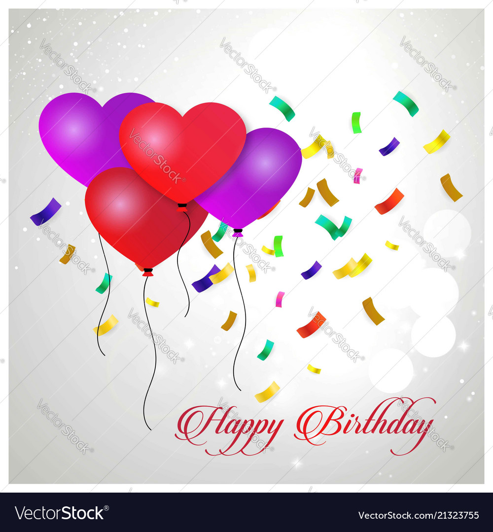 Happy birthday typography design for greeting