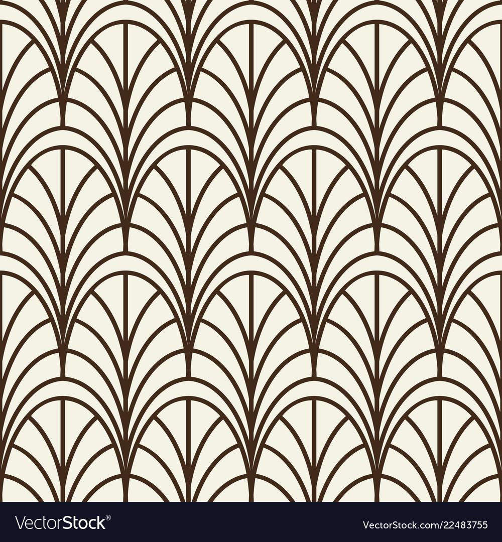 Monochrome seamless line arches pattern