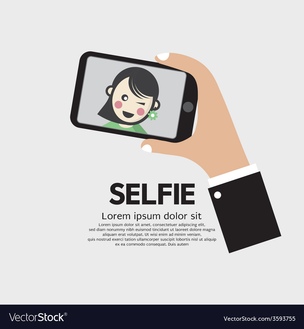Selfie By Phone Lifestyle With Technology