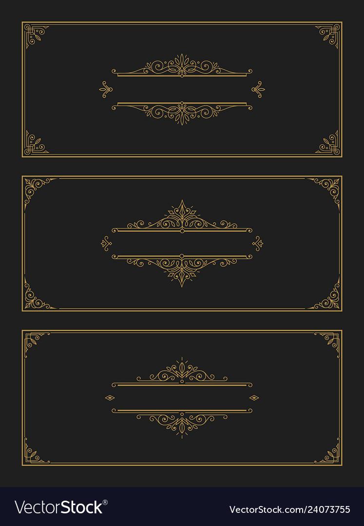 Set of flourishes and ornamental vintage design