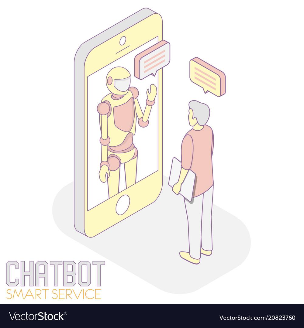 Chatbot service isometric