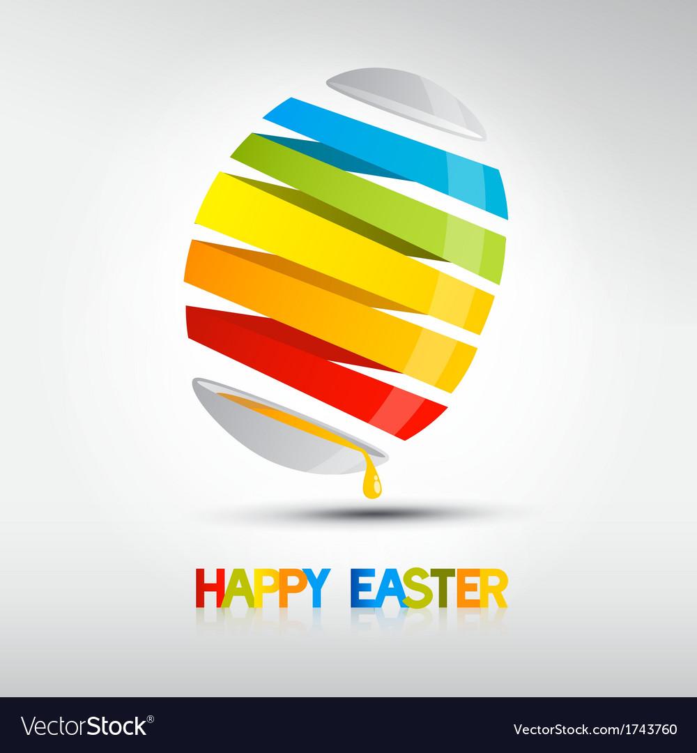 Easter egg shiny colors Happy Easter celebration