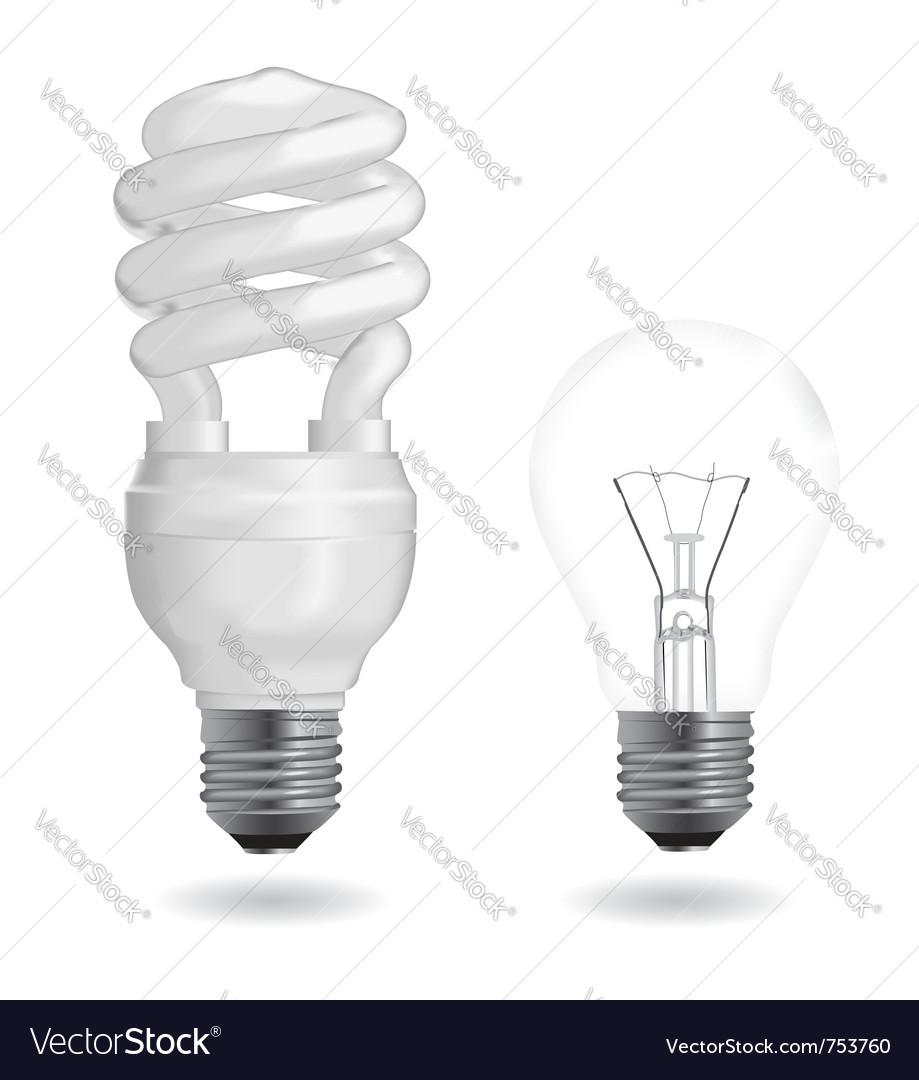 Incandescent and fluorescent light bulbs