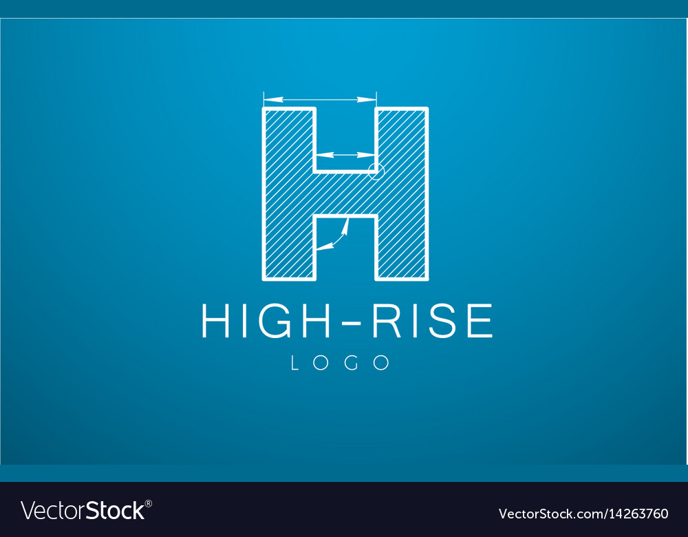 Logo template letter h in the style of a vector image