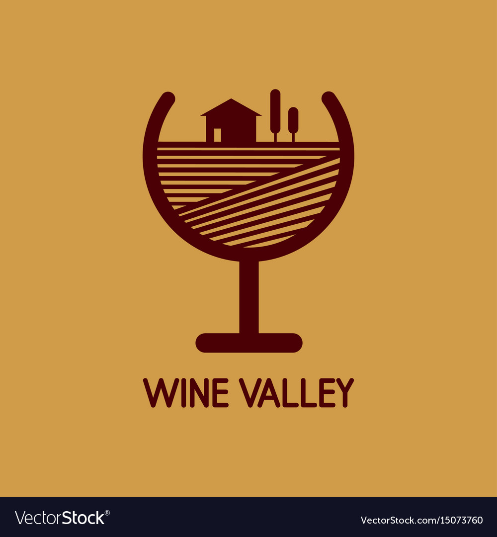 Logo with a wine valley
