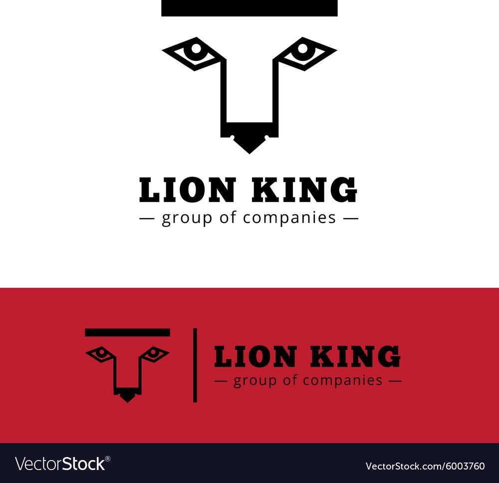 Minimalistic lion logo Lion face logotype